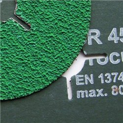 Fiber-Schleifscheiben 115x22 mm krezgeschlitzt Keramikkorn - K80