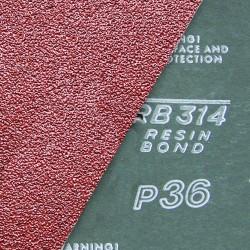 Fiber-Schleifscheiben 125x22 mm krezgeschlitzt Korund - K50