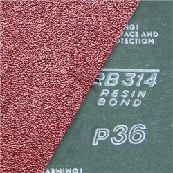 Fiber-Schleifscheiben 115x22 mm krezgeschlitzt Korund - K100