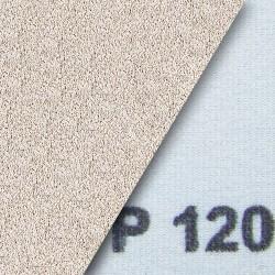 Schleifstreifen klett 80x133 mm gelocht mit 2 x 4 Seitlöchern - K320