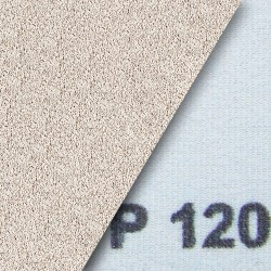 Schleifstreifen klett 115x230 mm gelocht mit 2 x 5 Seitlöchern - K150